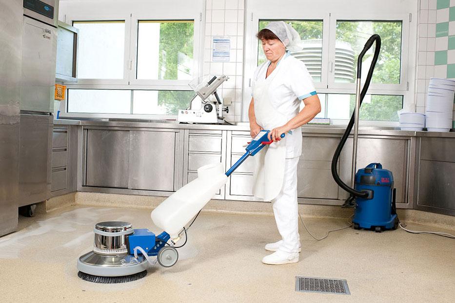 Einscheibenmaschine E500E Küchenboden reinigen
