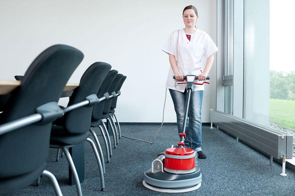 Einscheibenmaschine Thermopad Teppichboden reinigen