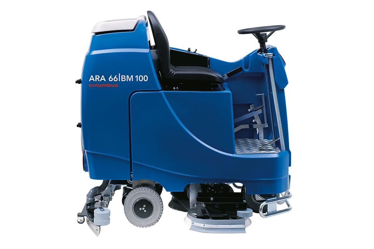 Reinigungsautomat Scheuersaugmaschine ARA66BM100 seitlich links
