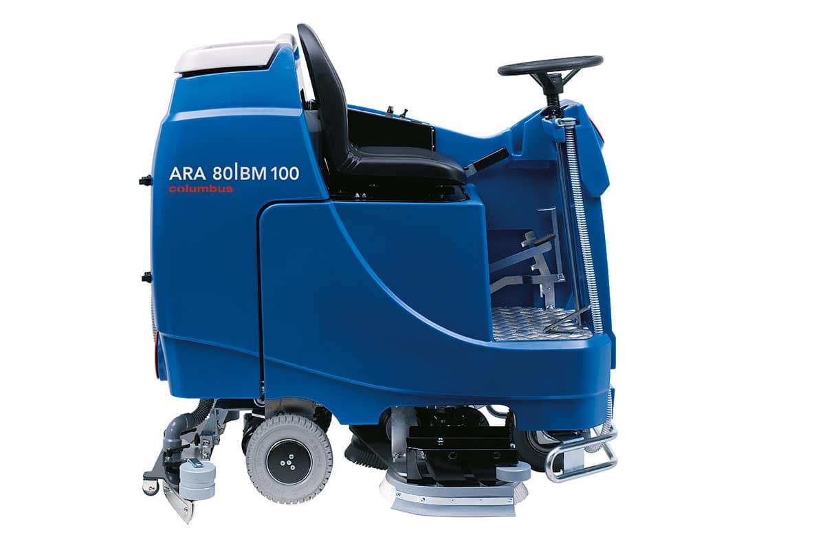 Reinigungsautomat Scheuersaugmaschine ARA80BM100 seitlich links