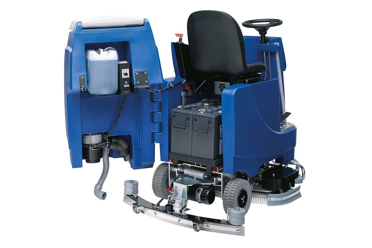 Reinigungsautomat Scheuersaugmaschine ARA80BM100 hinten geöffnet