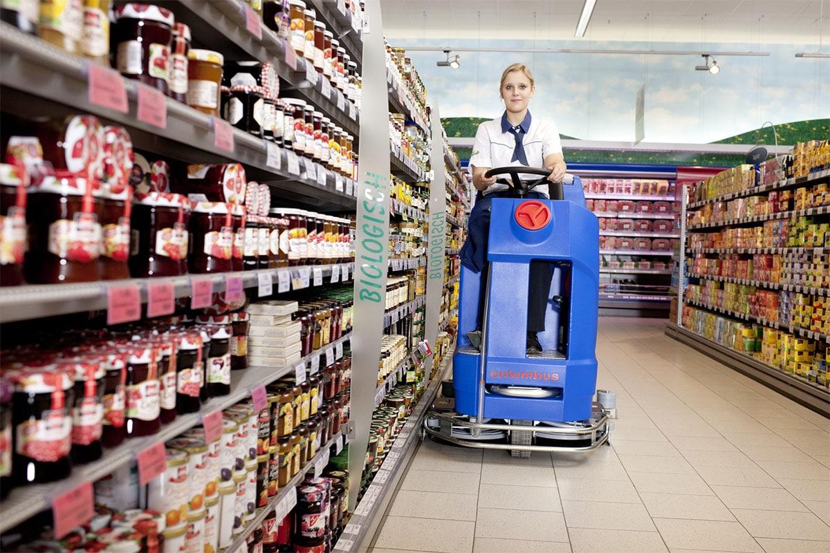 Reinigungsautomat Scheuersaugmaschine ARA80BM100 Supermarkt reinigen