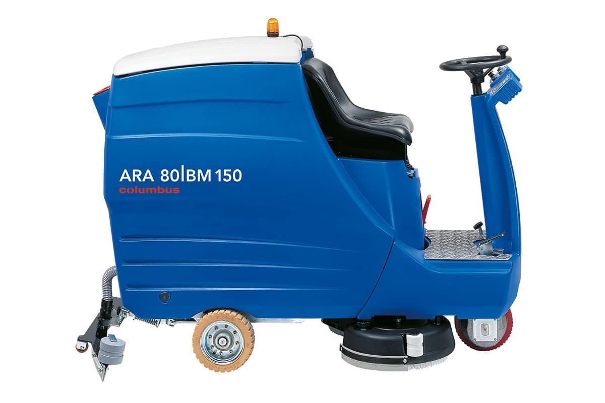 Reinigungsautomaten Scheuersaugmaschinen ARA80BM150 seitlich links