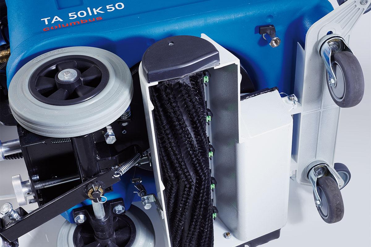 Sprühextraktionsmaschine TA50K50 Bürsteinheit unten