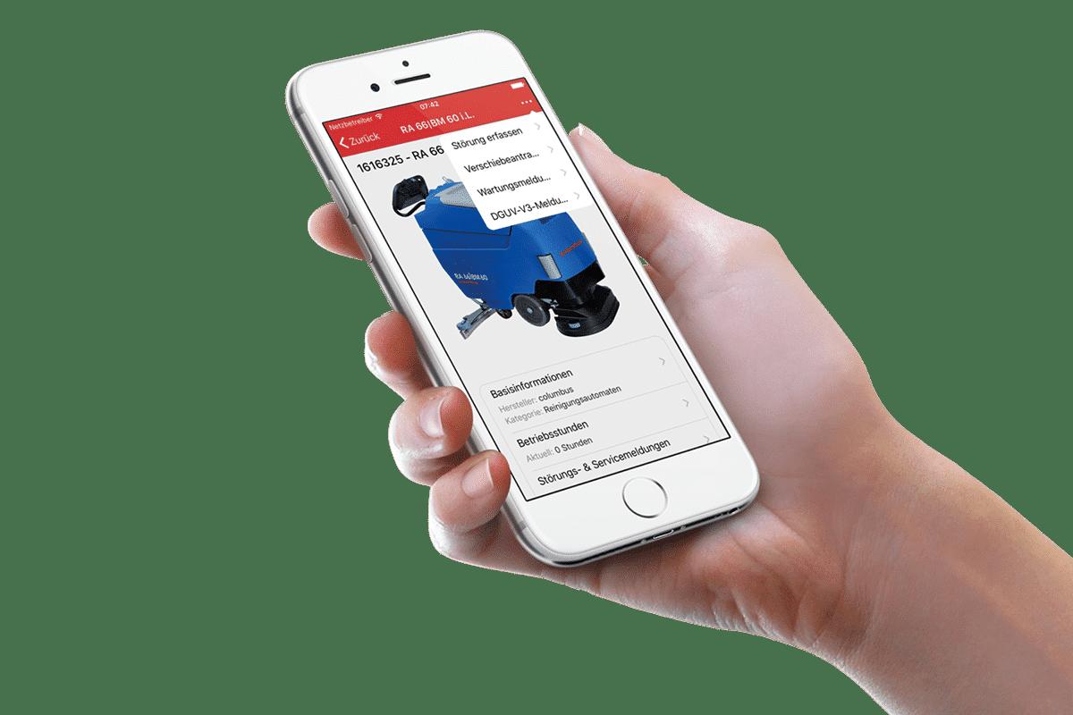 Flottenmanagement columbus mobile App
