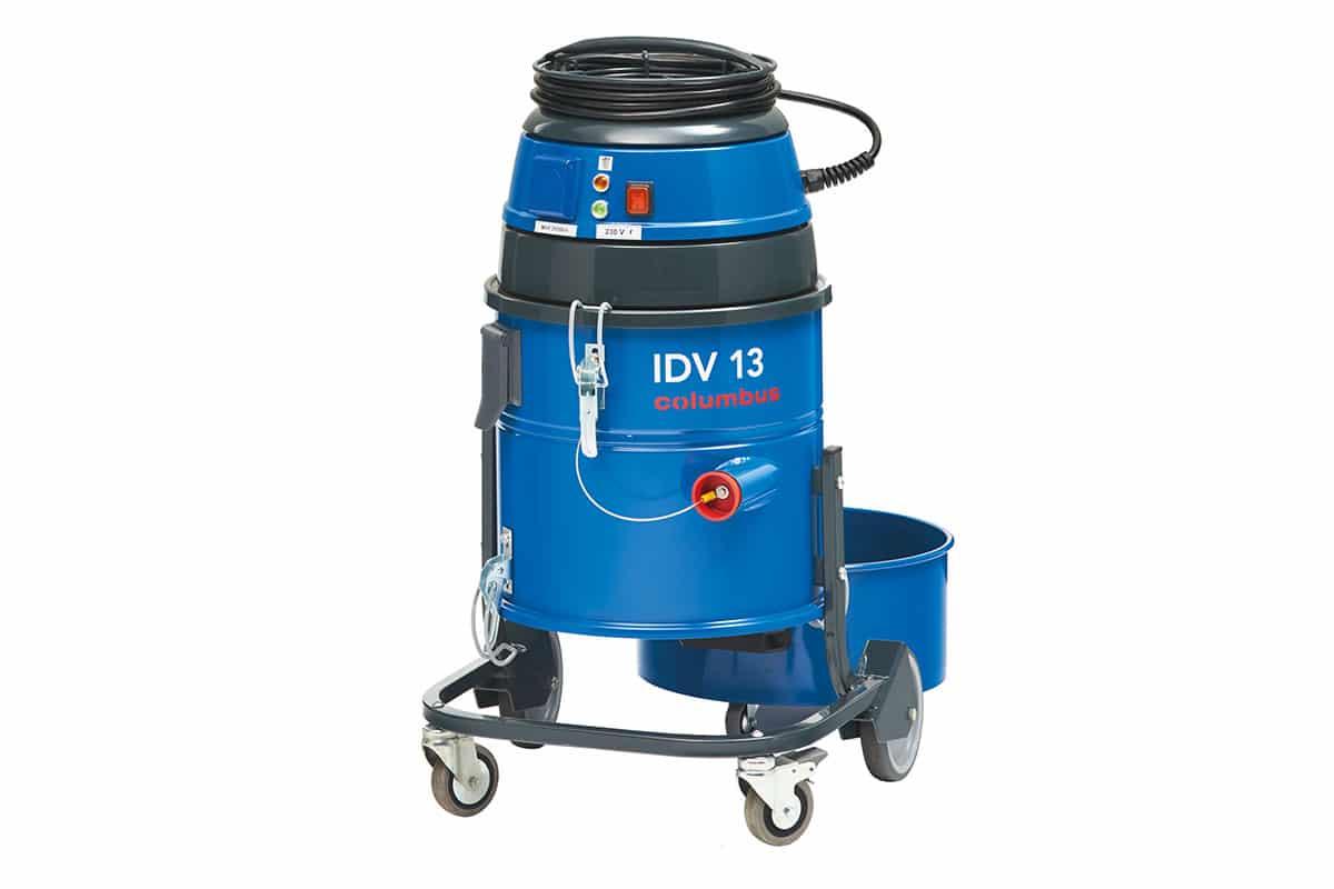 Industriesauger IDV13 vorne ohne Behälter mit Stopfen