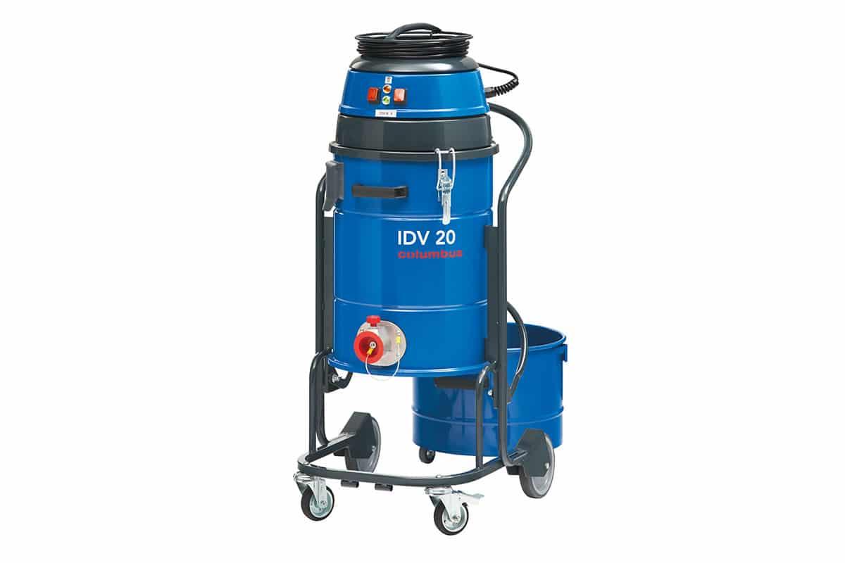 Industriesauger IDV20 vorne ohne Behälter mit Stopfen