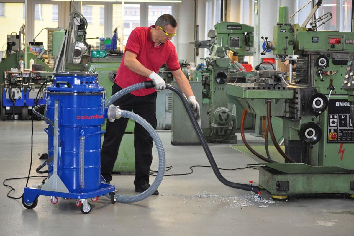 Industriesauger IDV60 Werkstattboden saugen