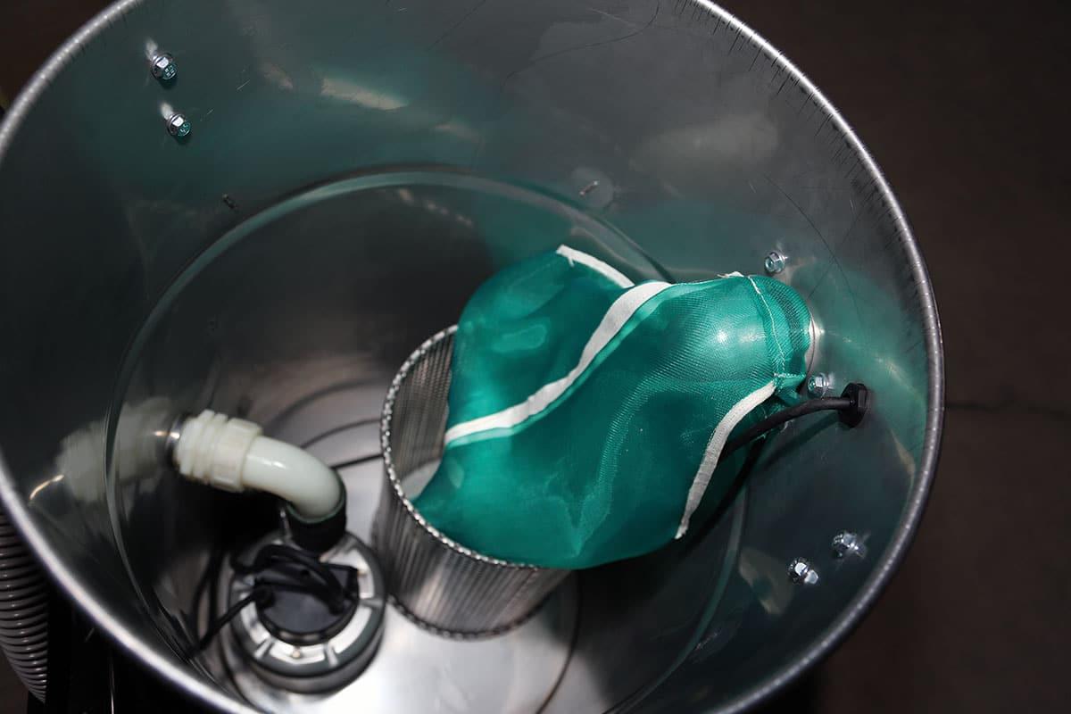 Industriesauger IWV 80 pump Innenansicht