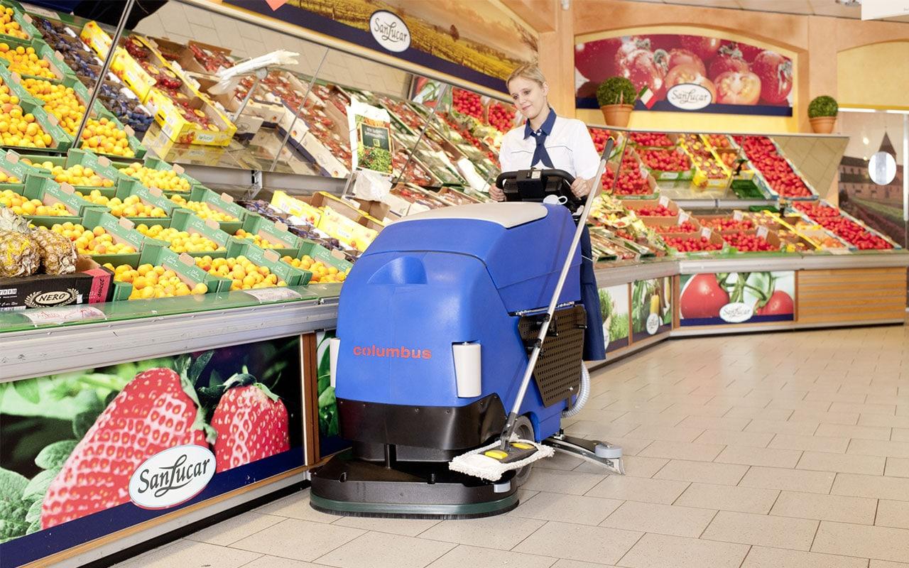 Gebäudedienstleister Supermarkt reinigen