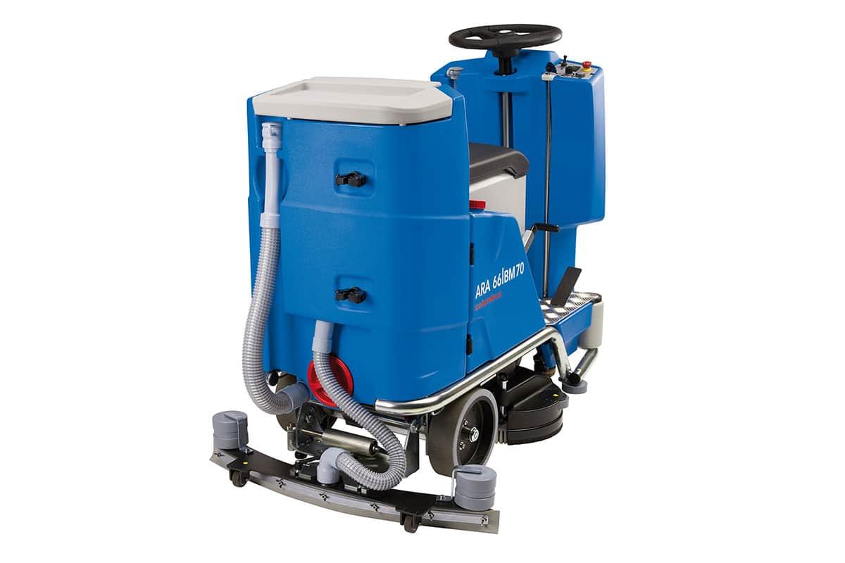Scrubber dryer floor scrubber cleaning machine ARA66BM70 back