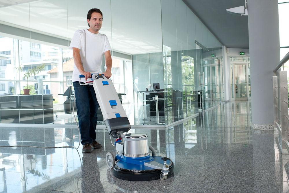 Single disc machine floor scrubbing machine HS1001 tile cleaning