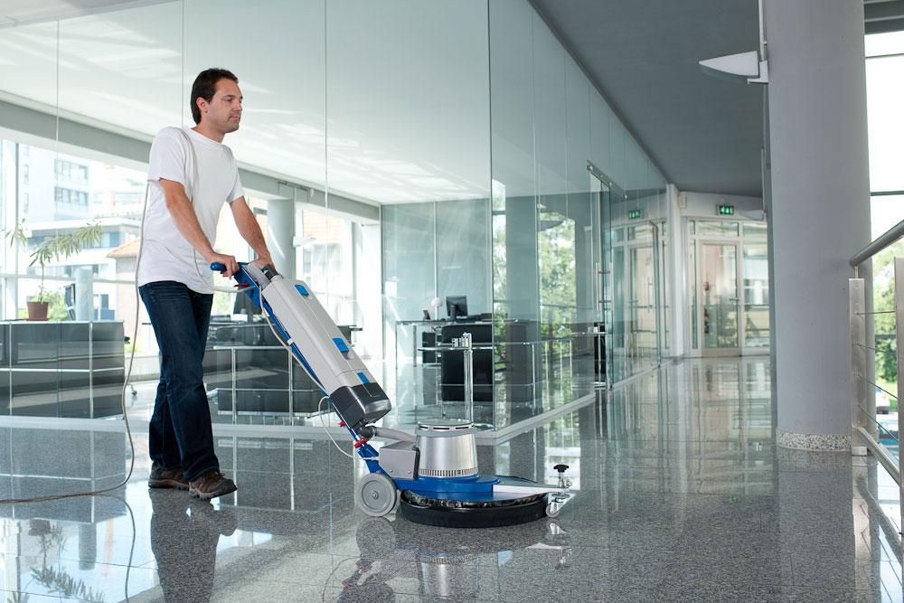 Single disc machine floor scrubbing machine HS1601 tile cleaning
