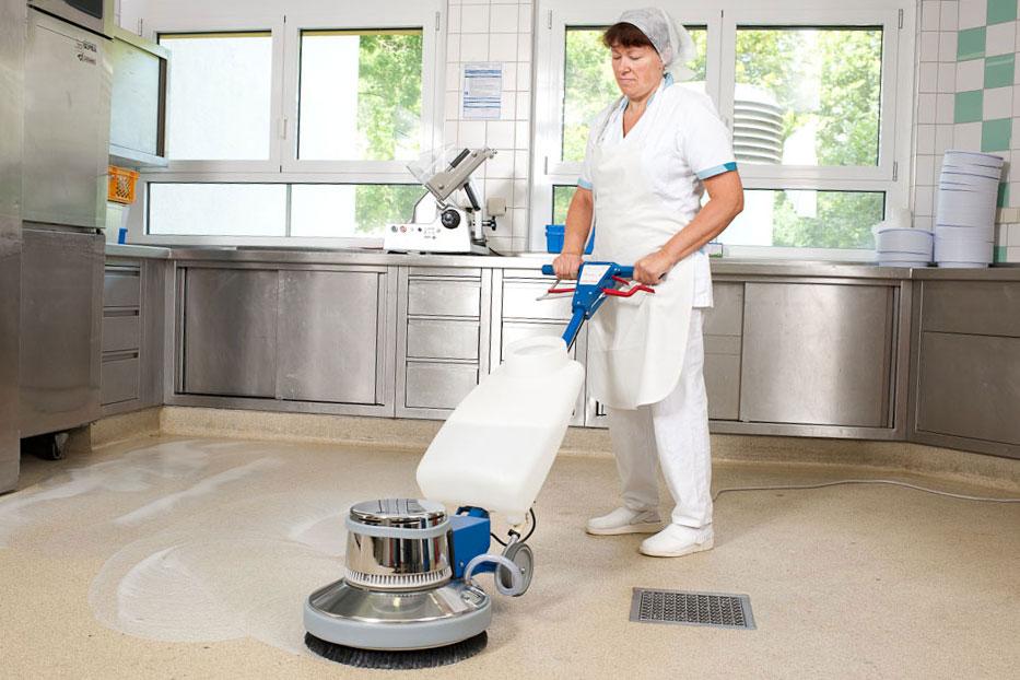 Single disc machine floor scrubbing machine HS434 floor cleaning