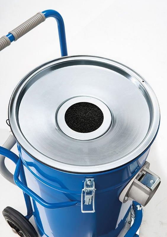 Industrial vacuum cleaner IWV80 filter closed