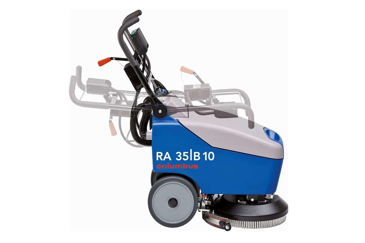 Scrubber dryer floor scrubber cleaning machine RA35K10 handling