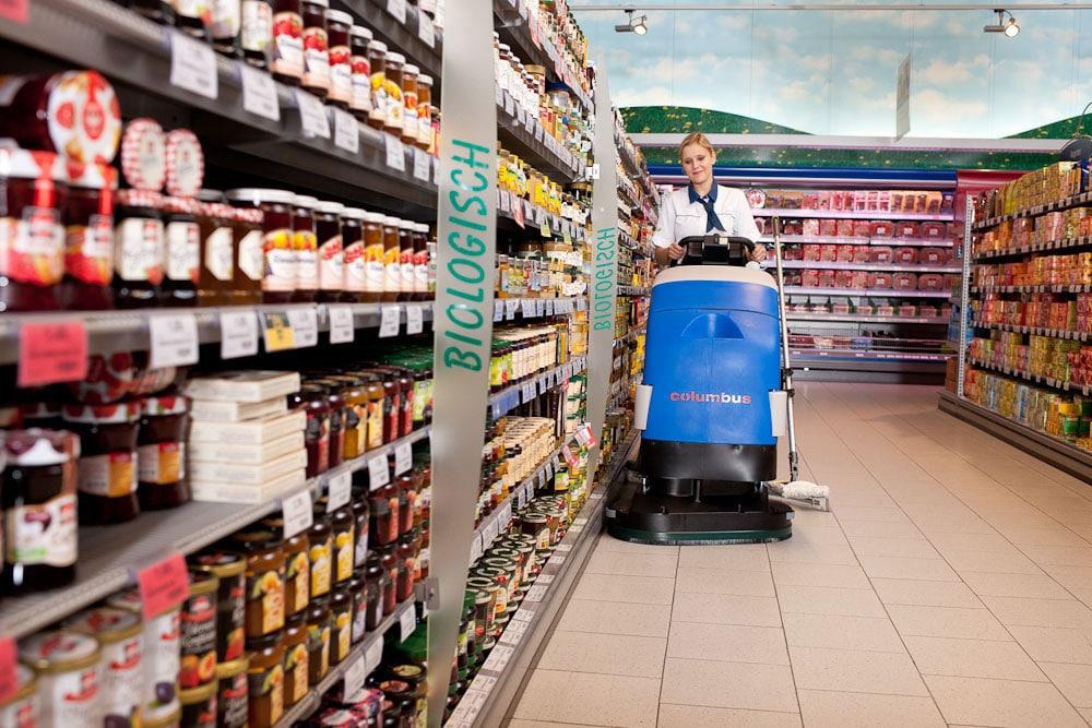 Scrubber dryer floor scrubber cleaning machine RA66BM60 supermarket cleaning