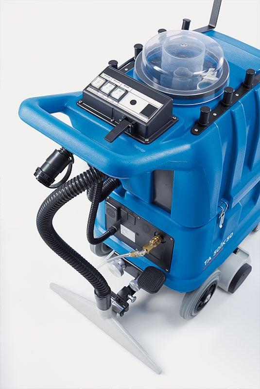 Carpet cleaning machine shampoo vacuum TA50K50 display