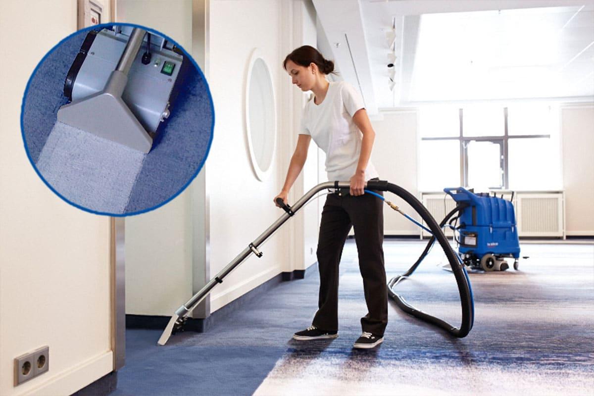 Carpet cleaning machine shampoo vacuum TA50K50 cleaning result