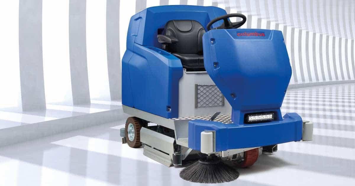 Für harte Reinigungseinsätze auf großen Flächen: die Reinigungsmaschine ARA 100|BM 200.